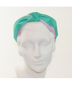 Lavender with Sea Breeze Grosgrain Two-Toned Center Turban Headband
