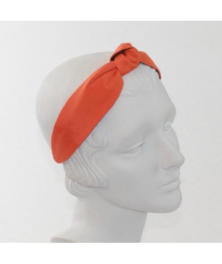 Orange Grosgrain Center Knot Turban