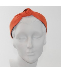 Orange Grosgrain Center Knot Turban