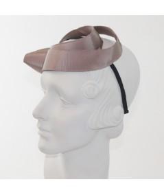 Cocoa Abstract Grosgrain Sculptural Headpiece