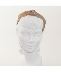 Wheat with Lavender Two-Toned Toyo Straw Center Turban Headband