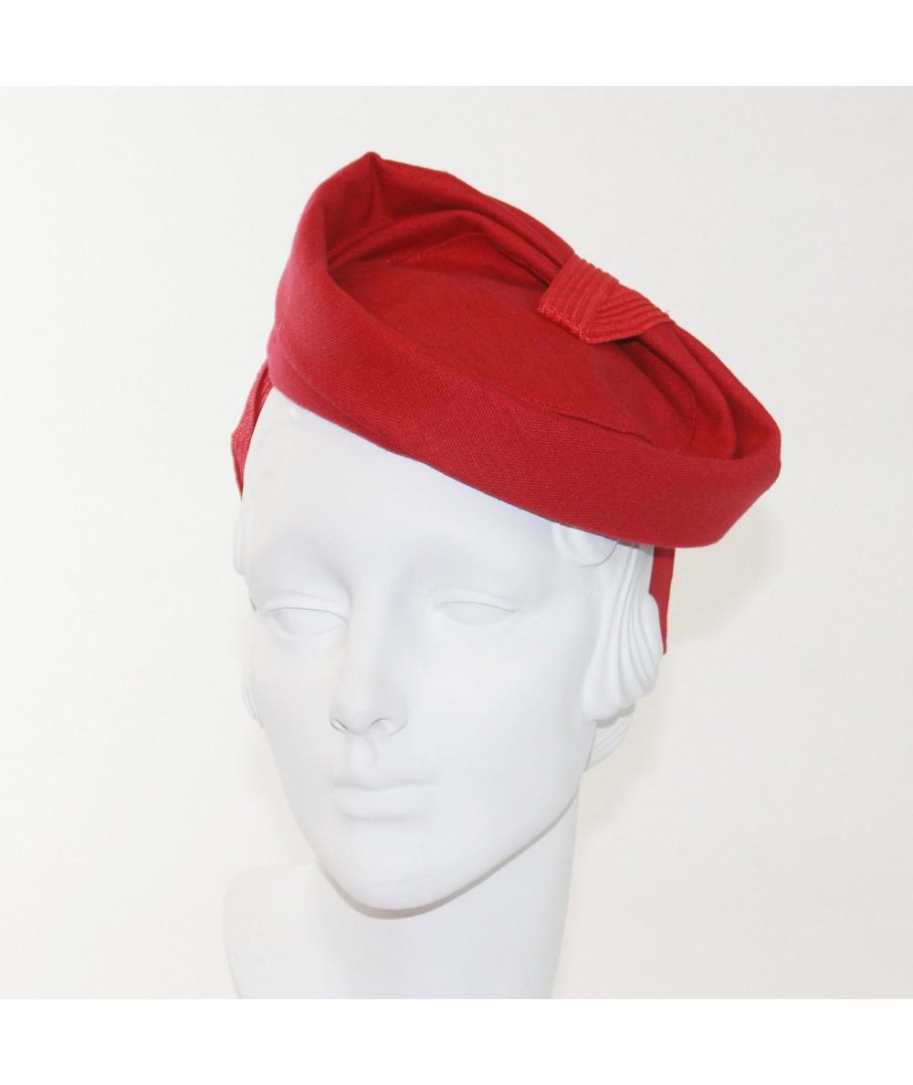 Red Fascinator by Jennifer Ouellette