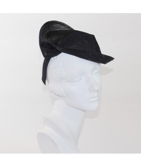 Black Horse Hair with Tonal Stitch Headpiece