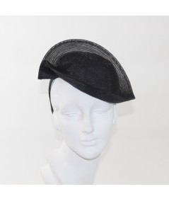 Black Horse Hair with Tonal Stitch Headpiece