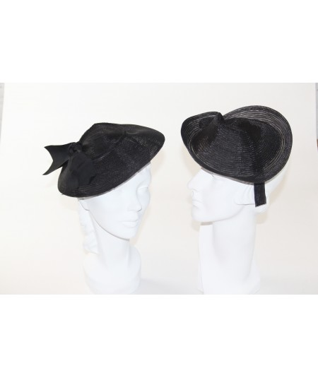 Black Horse Hair with Tonal Stitch Headpiece - HT660 Black