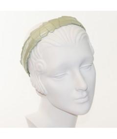 Mint Leather Mosaic Headband