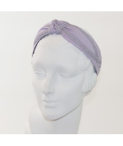 Lavender Linen Turban Headband by Jennifer Ouellette