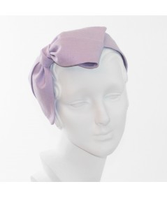 Lavender Linen Bow Headpiece