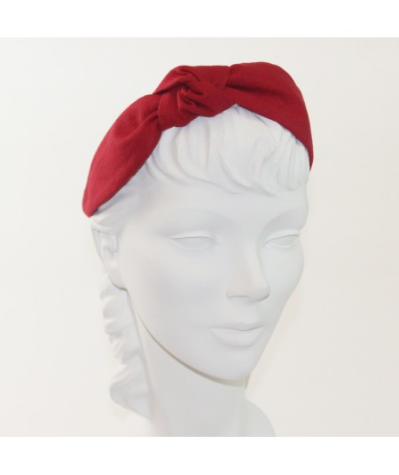 Red Linen Side Turban Headband