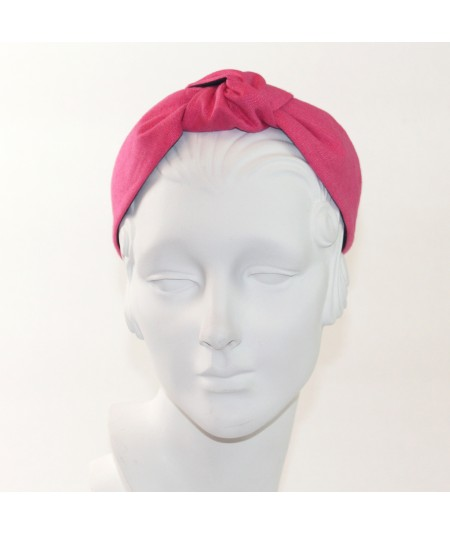 Hot Pink Linen Harlow Headband