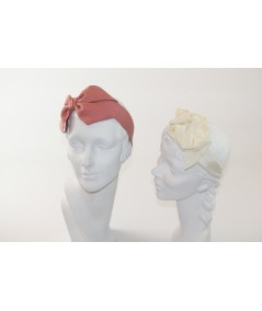 Blush Linen Carolina Bow Headband - BE36