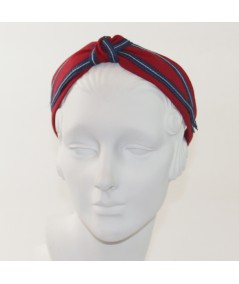 Linen and Constrating Straw Harlow Headband