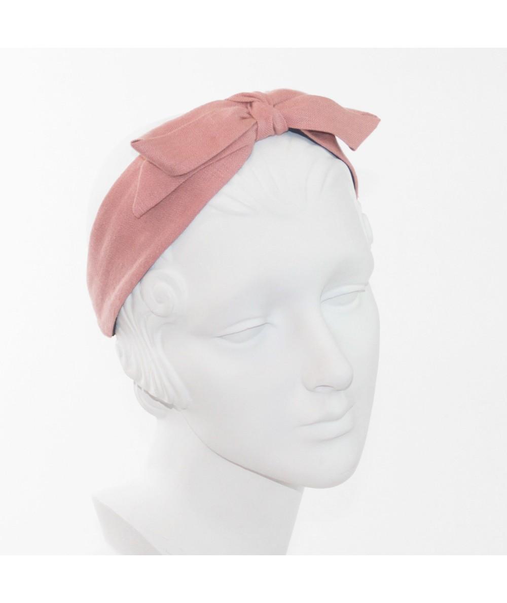 Linen with Center Bow Headband