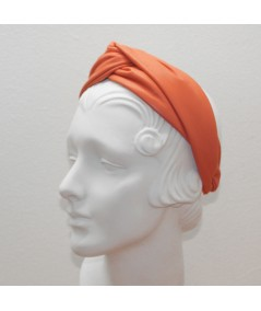 Coral Leather Center Twist Turban Headband