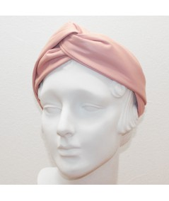 Pale Pink Leather Center Twist Turban Headband