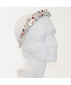 Leather Rhinestones Headband