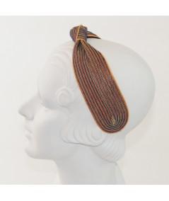Arcade Colored Stitch Wide Center Knot Headband