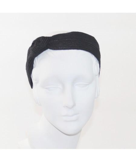 Black Colored Stitch Side Knot Headband