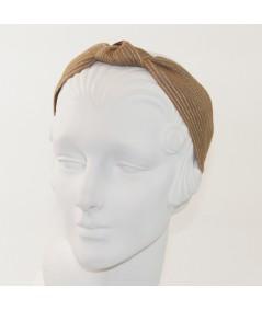 Cashew Colored Stitch Wide Center Knot Headband