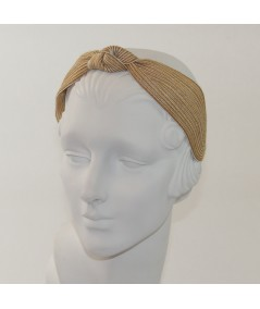 Honeycomb Colored Stitch Wide Center Knot Headband