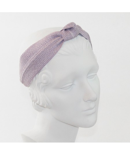 Lavender Straw Center Wide Turban Headband