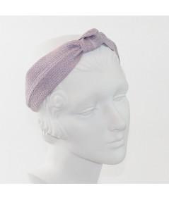 Lavender Straw Center Wide Turban Headband
