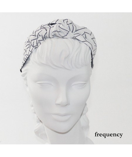 Frequency Printed Blair Turban Headband