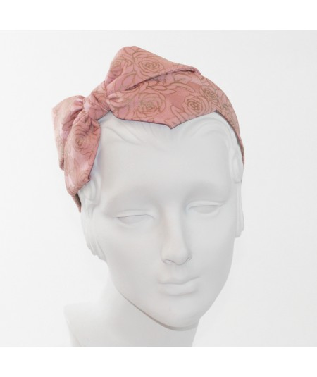 Rose Print Carolina Bow Headband