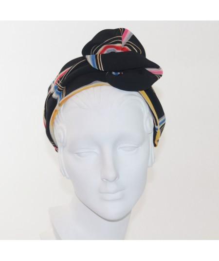 Lines Printed Flower Headpiece