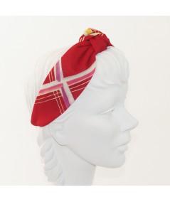 Red Line Printed Blair Turban Headband