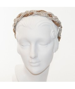 Two-Toned Rhinestones Braided Headpiece