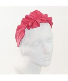 Satin Ruffle Headband