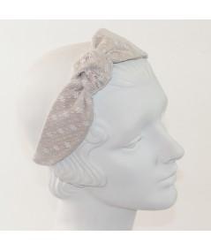 Flower Printed Tulle Side Turban Headband
