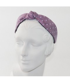 Crocus with Lavender Dotted Tulle Harlow Headband