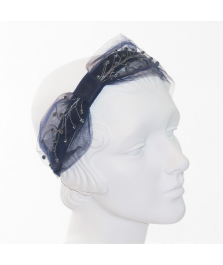 Tulle and Cosmic Spray Side Turban Headband