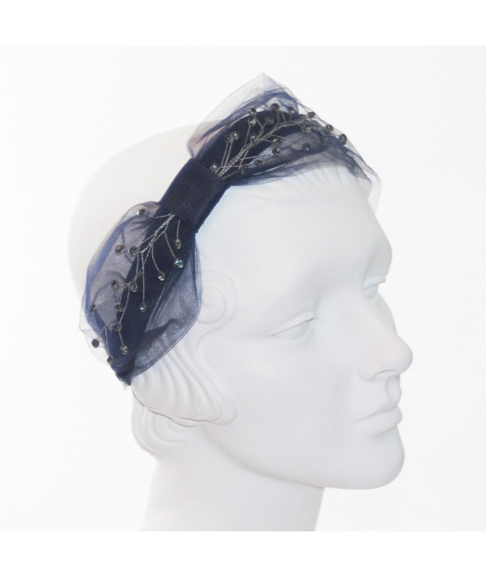 Tulle and Cosmic Spray Side Turban Headband
