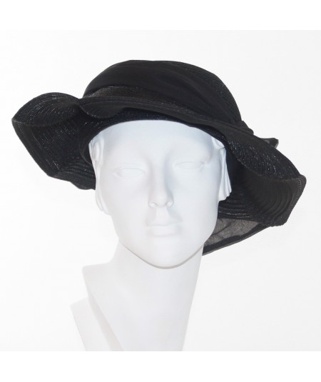Pagalina Straw Scalloped Hat