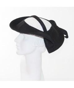 Black Pagalina Straw Gatsby Headpiece Fascinator