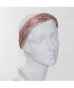 Blush Braided Metallic Trim Headband