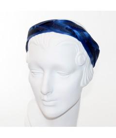 Royal Satin and Black Horse Hair Braided Headband