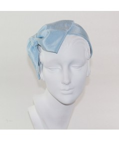 Pale Blue Bengaline Large Bow Headband