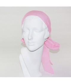 Pretty Pink Silk Long Ties Headband