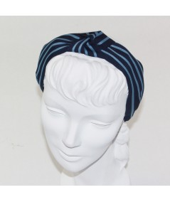 Navy with Country Blue Grosgrain Stripe Bernadette Headband
