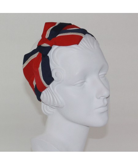 Red White Blue Grosgrain and velvet Bow Headband