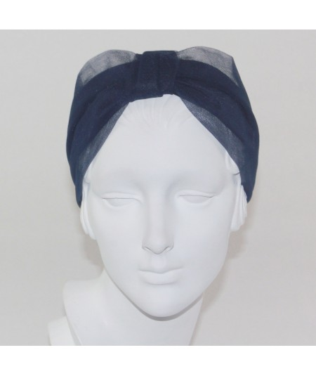 TL25 Navy headband turban