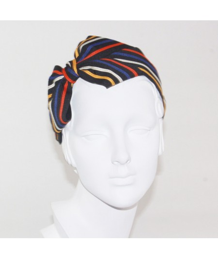 Multi Stripe Grosgrain Side Bow Headband