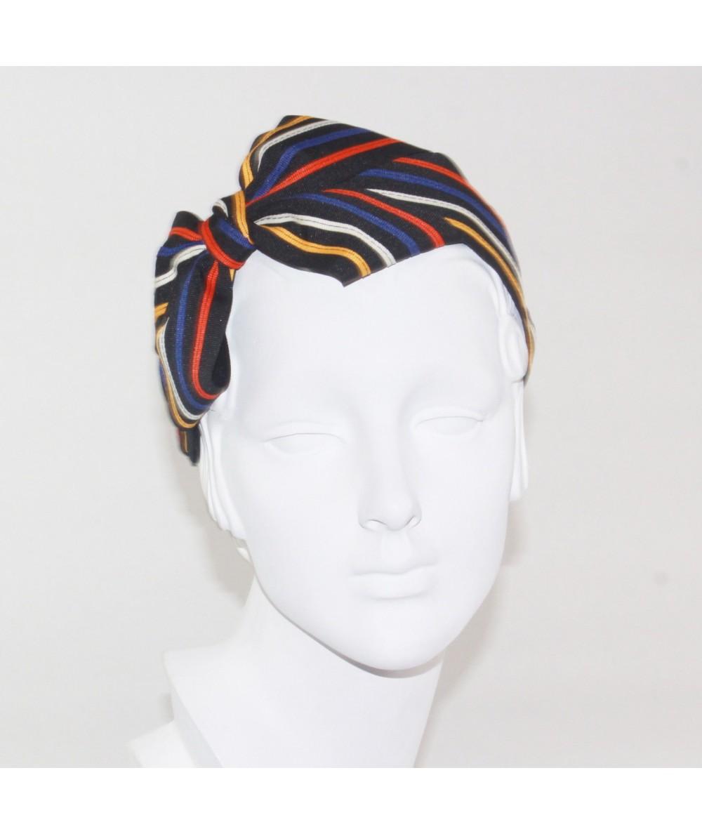 Multi Stripe Grosgrain Side Bow Headband
