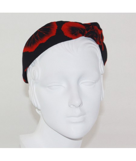 Flower Print Side Turban Headband
