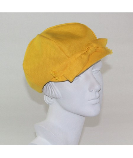 Marigold Linen Cap with Big Bow