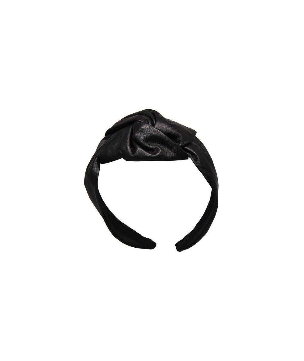 Leather Center Chunky Turban Headband